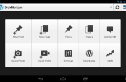 WordPress with Nexus7 support