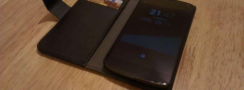 Nexus4 Leather Wallet Case. Review.