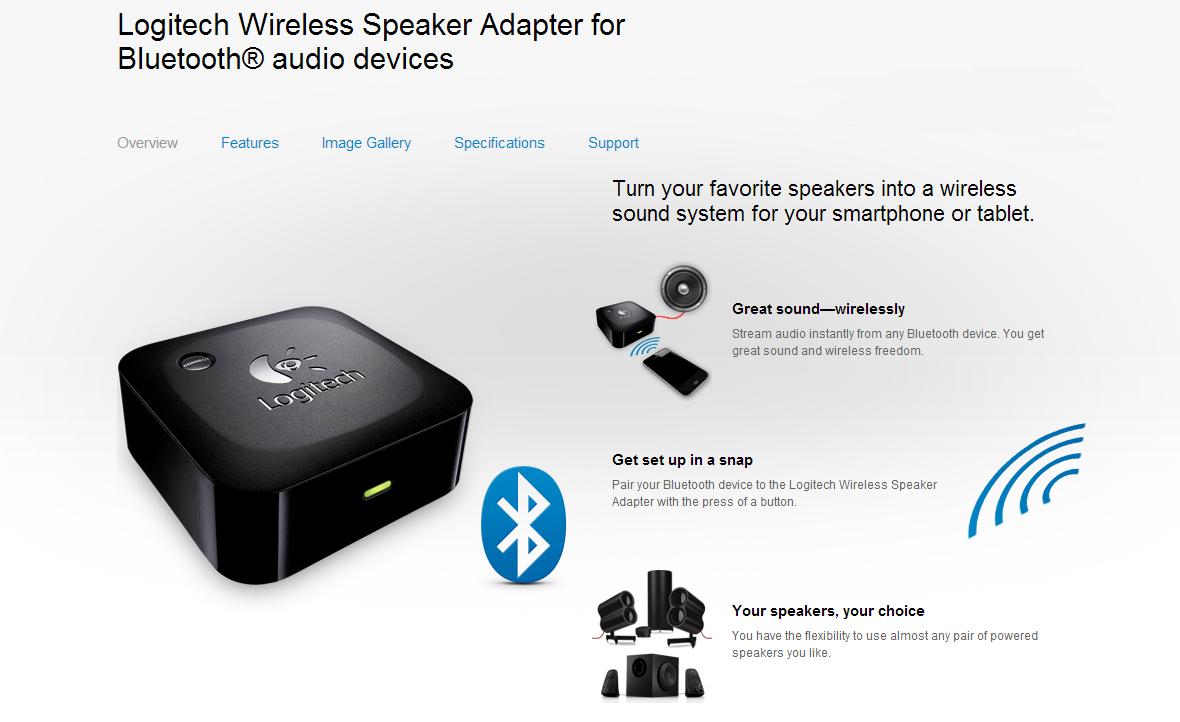 Logitech Wireless Speaker Adapter For Bluetooth Audio Devices Droidhorizon