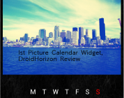 1st Picture Calendar Widget, Review.