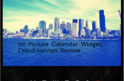 1st Picture Calendar Widget, Review.