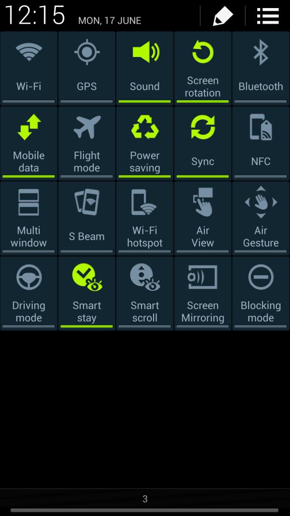 Quick settings#2