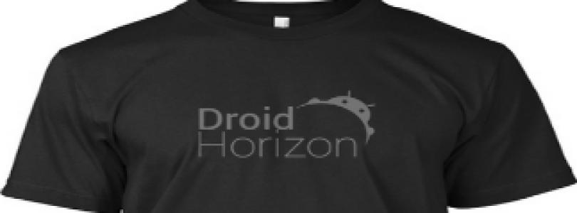 New DroidHorizon apparel available.