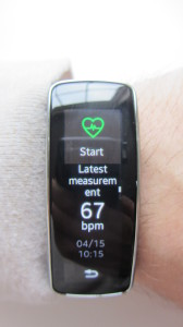 Heart Rate Measurement screen.