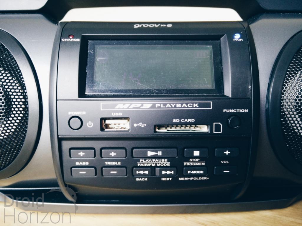 buttons groov-e soundblaster