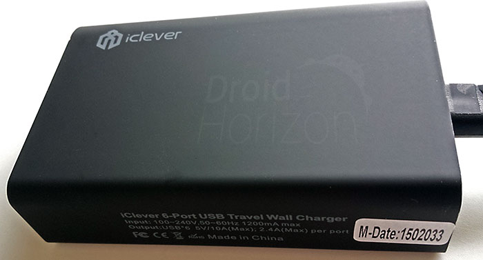 iClever Travel Wall Charger - Side View