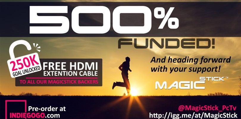 Indiegogo: MagicStick Reaches 500% on initial goal