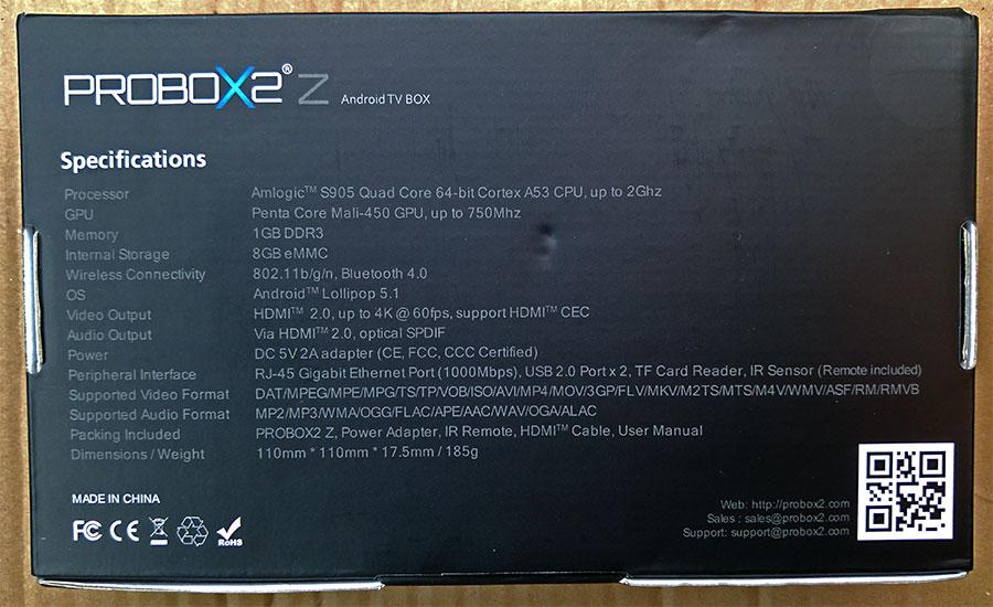 Probox2 Z Specs