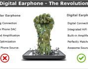 Aero Digital Earphone, complete HiFi system at 30g Indiegogo