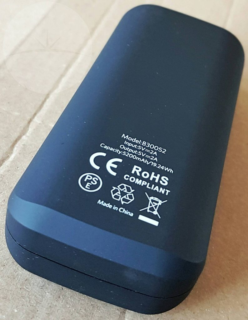 EC 5200mAh Power Bank - Back