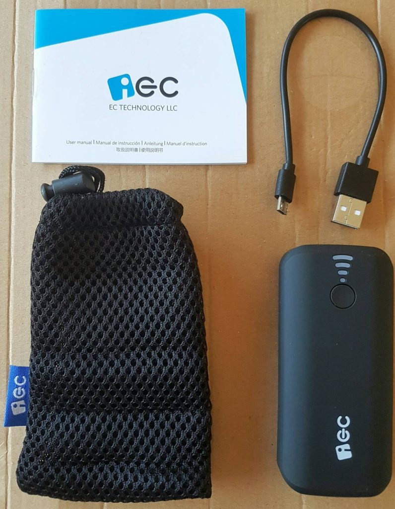 EC 5200mAh Power Bank - Contents