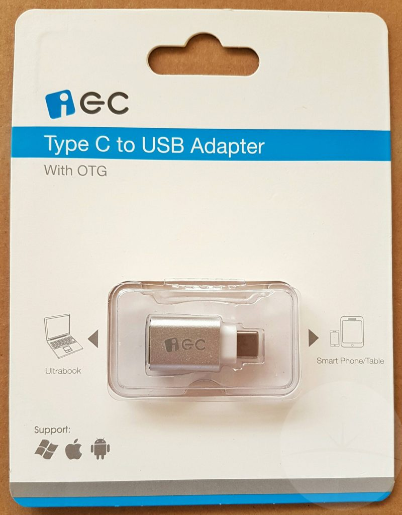 EC USB-C to USB - Packaging