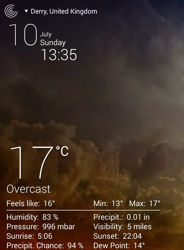 screenshot weather live