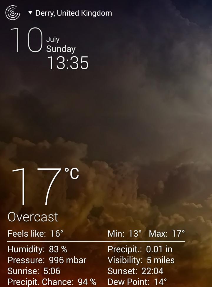 screenshot weather live