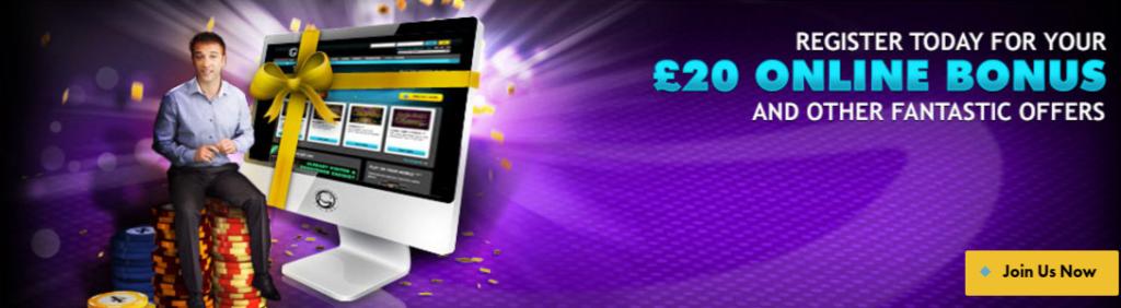 sign up bonus Grosvenor Casino