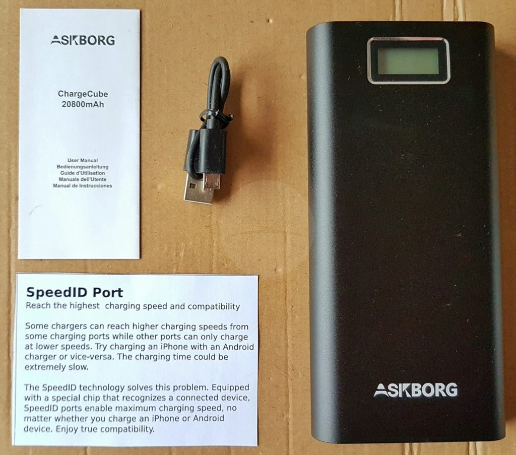 Askborg ChargeCube M021 - Contents