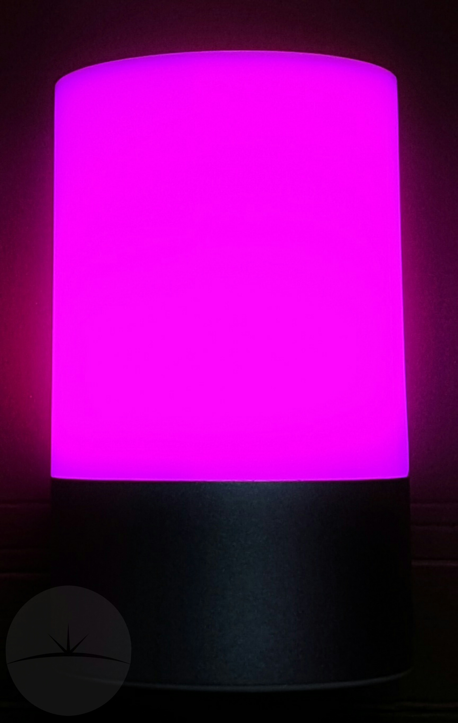 Review ec technology rgb led table lamp ec table lamp purple geotapseo Gallery