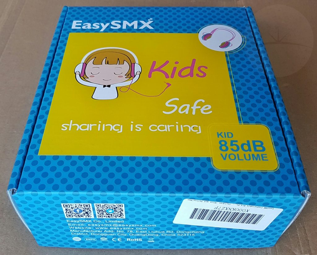 EasySMX Kids Headphones - Box