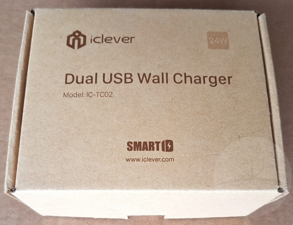 iClever UK Dual Port Charger - Box