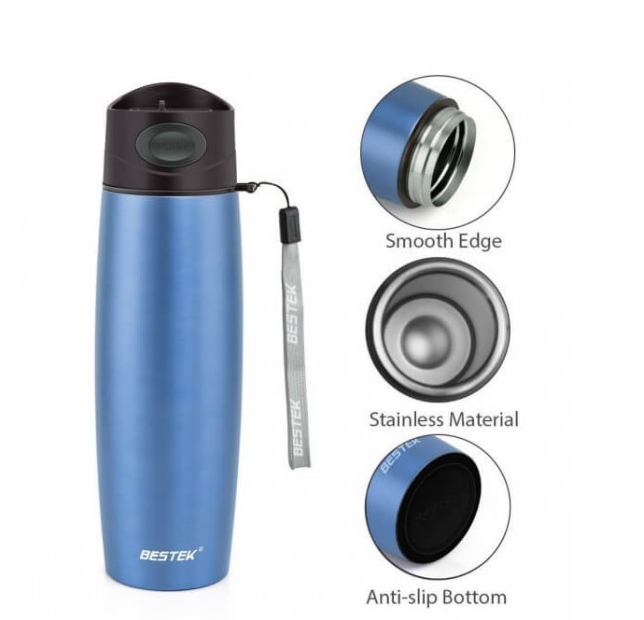 black friday BESTEK Vacuum Mug Double Wall Stainless Steel with 17 Ounce Blue