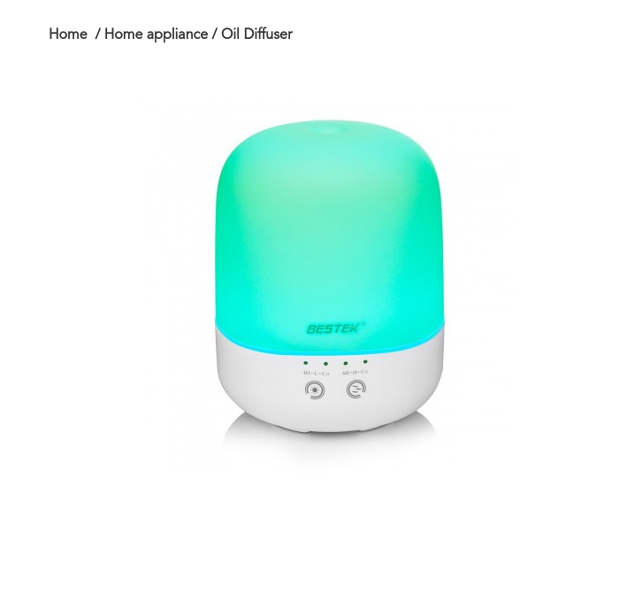 black friday BESTEK Ultrasonic Cool Aroma Diffuser Air Purifier Mist Humidifier Essential Oil Diffuser , 300ML