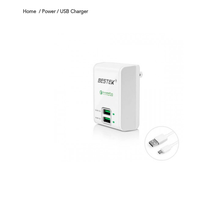 black friday BESTEK 30W Travel USB Wall Charger with Dual Quick Charge2.0 USB Port
