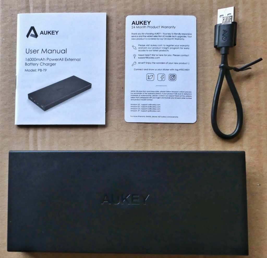 Aukey PB-T9 - Contents