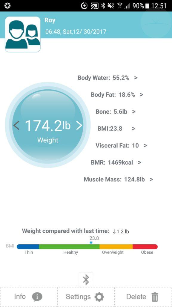 Ymiko Smart Scale - App