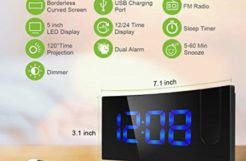 Review: Digital Alarm Clock, with FM Radio, Dual Alarms, and Time Projection
