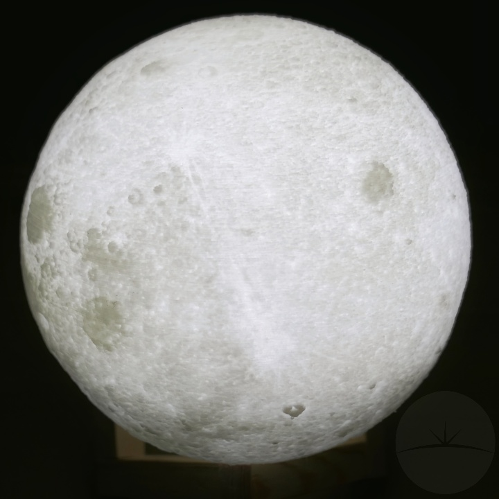 AGM Moon Lamp - Lit