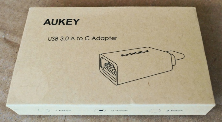 Aukey USB-C to USB-A - Box