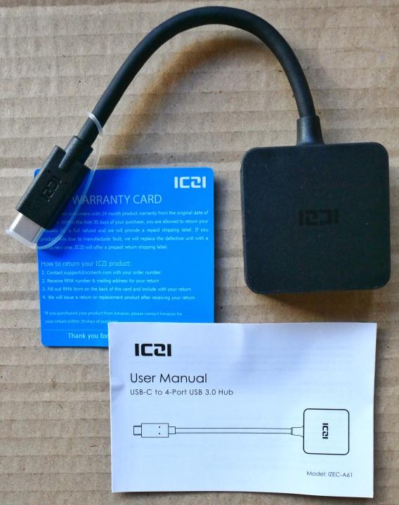 ICZI USB-C Hub - Contents