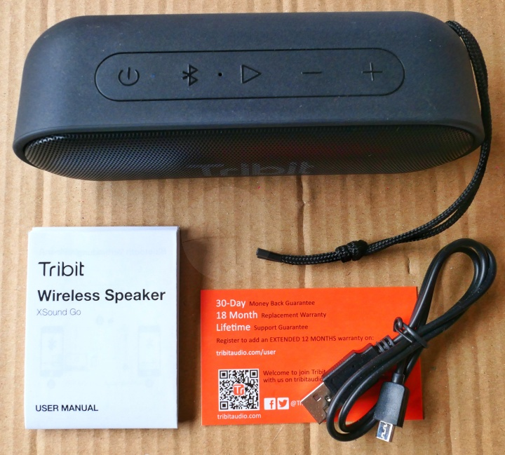 Tribit XSound Go - Contents