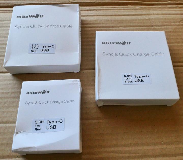 BlitzWolf USB-C Cables - Boxes
