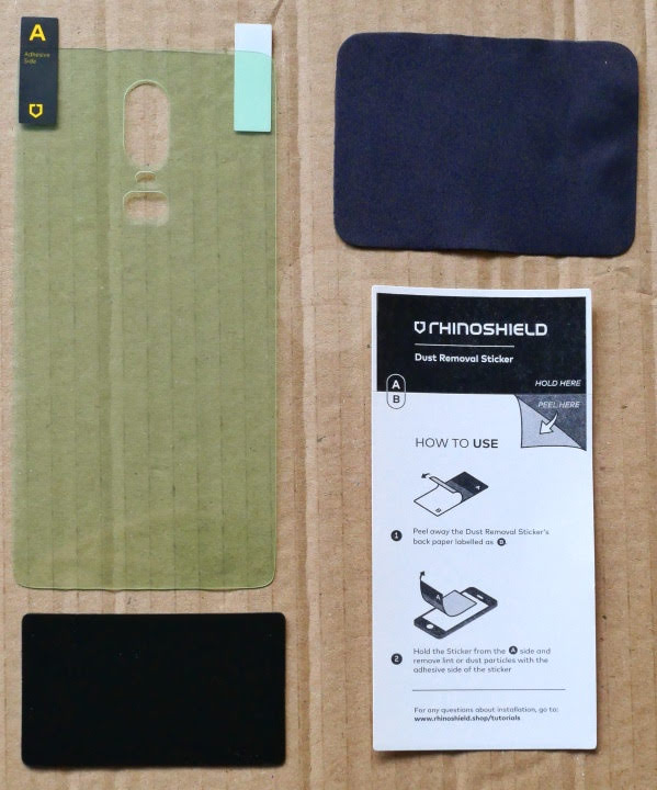 RhinoShield OnePlus 6 Screen Protectors - Back Film