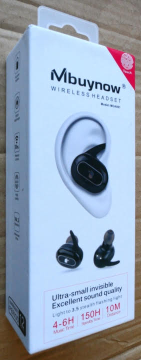 Mbuynow Touch-TWS Wireless Earphones - Box