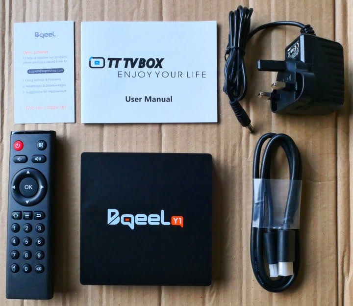 Bqeel Y1 TV Box - Contents