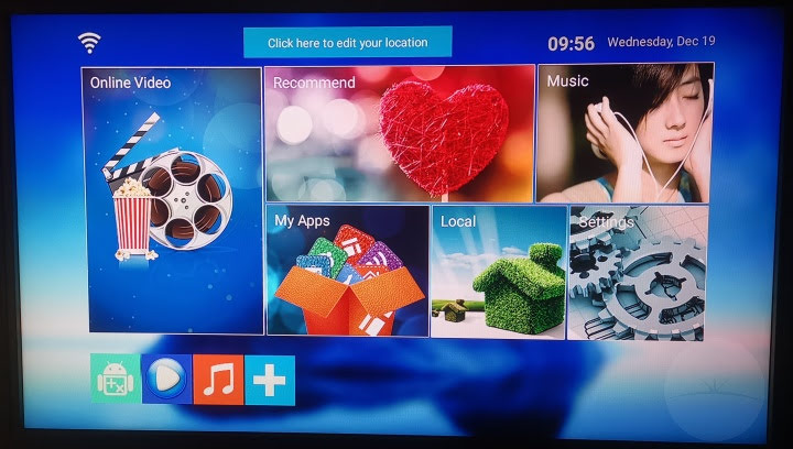 Bqeel Y1 TV Box - Home Screen