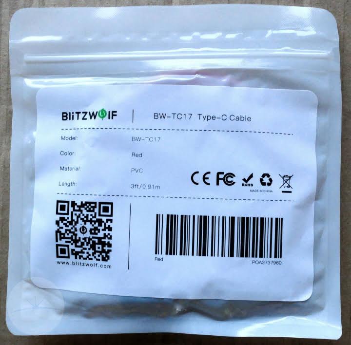 BlitzWolf BW-TC17 - Packaging