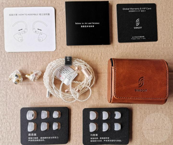 Simgot EM2 Earphones - Contents