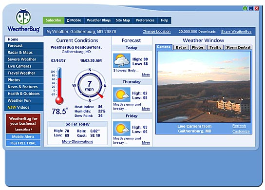 How to use and enjoy Weatherbug, tips & tricks screenshot
