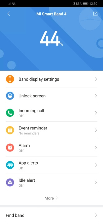 Xiaomi Mi Band 4 - App Settings