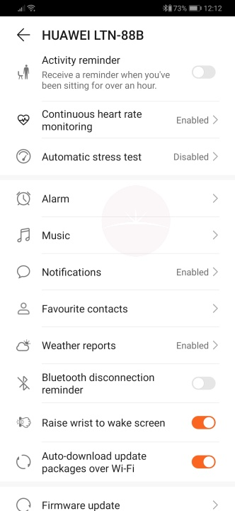 Huawei Watch GT 2 - Health App Settings