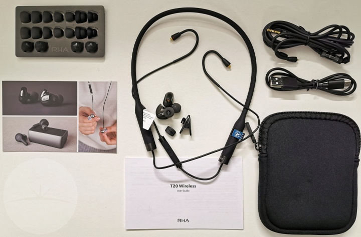 RHA T20 Wireless - Contents