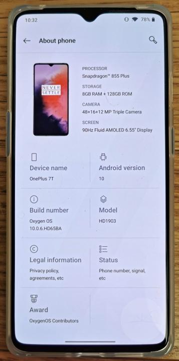 OnePlus 7T - Specs