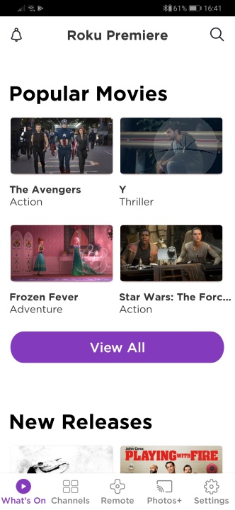 Roku Premiere - App What's On