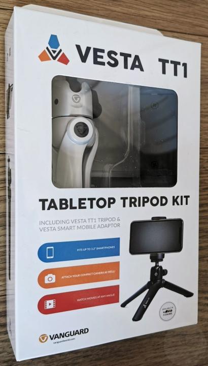 Vanguard Vesta TT1 Tabletop Tripod - Box