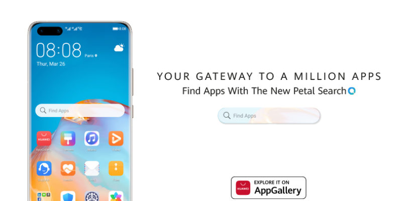 """Huawei introduces """"Petal Search - Find Apps"""" Homescreen Widget"""