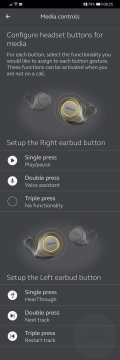Jabra Elite 75t - Sound+ Media Controls
