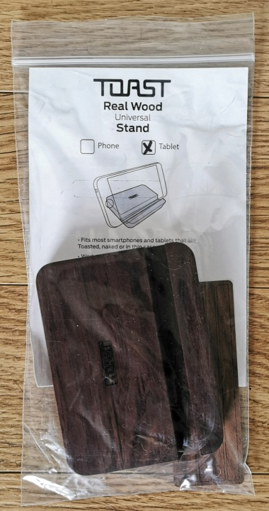 Toast Solid Walnut Universal Tablet Stand - Packaged
